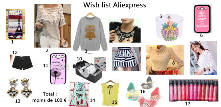 wish list aliexpress